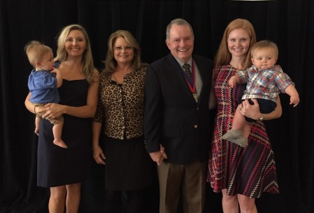 Left to Right: Harris Carter, Allison Carter, Susan Harris, Keith Harris, Ansley Willis, and Knox Willis